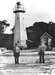 Lighthouse at Comboyuro Point, Moreton Island, 1906