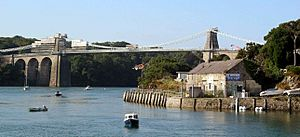 Menai Bridge painting