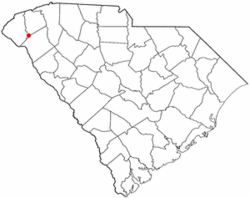 Location of Clemson, South Carolina