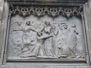 The murder of David Rizzio from the Duke of Buccleuch statue