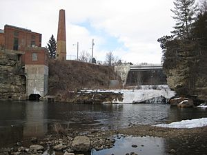 "Upper ""Junction Falls"" Dam on the Kinnickinnic River, River Falls, Wisconsin"