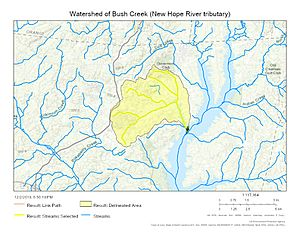 Watershed of Bush Creek (New Hope River tributary)