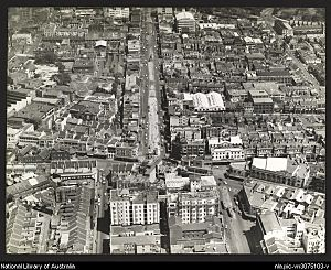 William Street Sydney from air