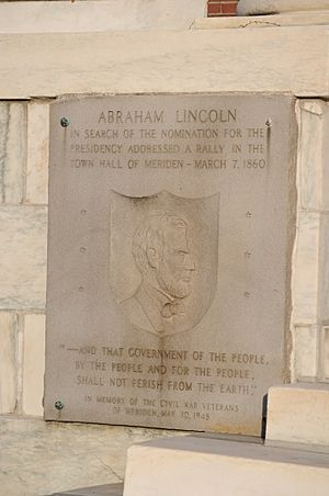 Meriden, CT - City Hall - Lincoln plaque 01