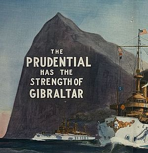 Rock of Gibraltar - 1909 Prudential advert