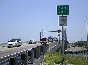 Snake Creek Florida drawbridge