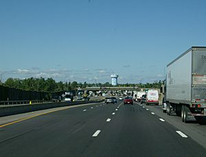 Thruway toll barrier at Williamsville NY