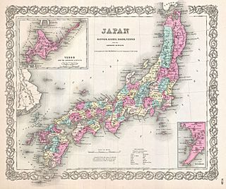 1855 Colton Map of Japan - Geographicus - Japan-colton-1855