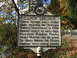 Capon Springs Historical Marker Capon Lake WV 2014 10 05 01