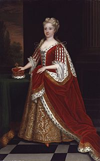Caroline Wilhelmina of Brandenburg-Ansbach by Sir Godfrey Kneller, Bt
