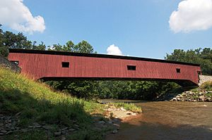Colemanville Covered Bridge Full Side View 3008px