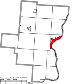 Location of Gallipolis in Gallia County