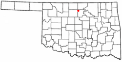 Location of Billings, Oklahoma