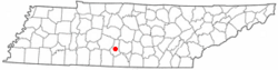 Location of Lewisburg, Tennessee