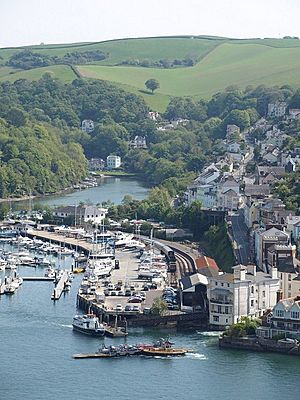 Kingswear railway station from above