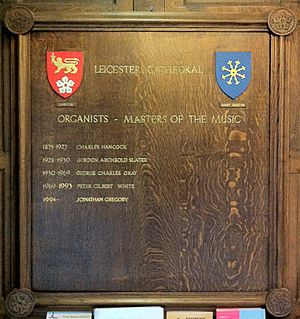 List of organists of Leicester Cathedral