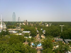 Six Flags Great Adventure view