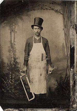 Butcher, late 19th century