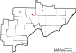 Location of Lowell in Washington County