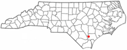 Location of Atkinson, North Carolina