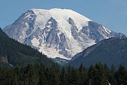 From Packwood, Mount Rainier and Butter Creek Canyon dominate the view to the north.