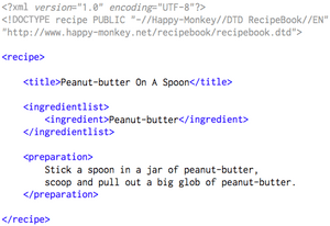RecipeBook XML Example