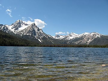A photo of McGown Peak and Stanley Lake