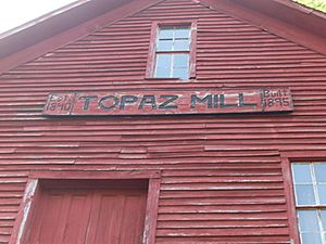 Topaz mill sign