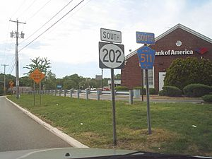 US Route 202 - New Jersey sign error along CR 511 concurrency