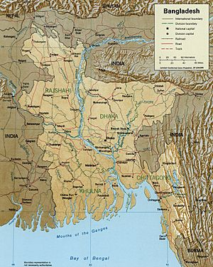 Bangladesh LOC 1996 map