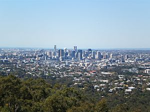 Brisbane From Mt Cootha