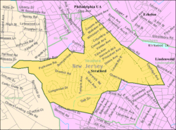 Census Bureau map of Stratford, New Jersey