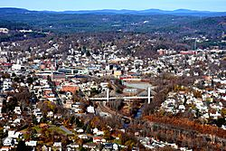 Downtown Fitchburg seen from the south.