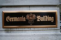 Germania Building Plaque