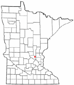 Location of the city of Zimmermanwithin Sherburne County, Minnesota