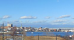 New London Skyline from Fort Trumbull