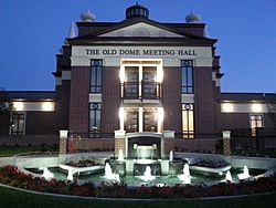 The Old Dome Meeting Hall, in Riverton City Park.
