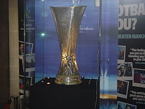 UEFA CUP Display in Manchester