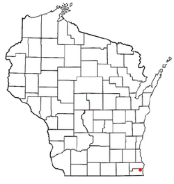 Location of Somers, Wisconsin