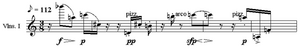 Webern Variations melody