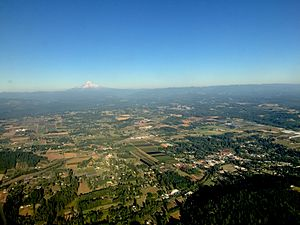 Boring and Damascus, Oregon aerial