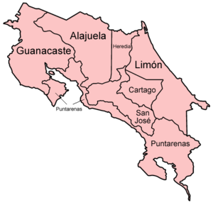 Costa Rica provinces named