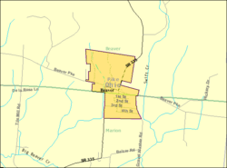 Detailed map of Beaver