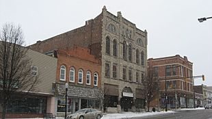 Buildings on Broadway in Logansport
