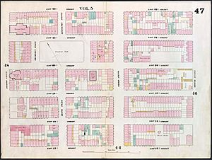Gramercy Park 1853 real estate map