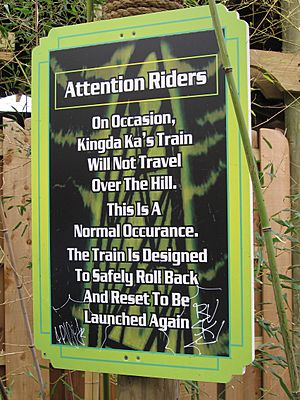 Kingda Ka rollback sign