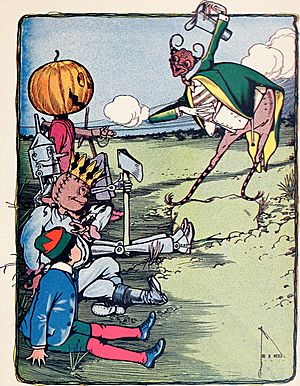 The marvelous land of Oz; being an account of the further adventures of the Scarecrow and Tin Woodman a sequel to the Wizard of Oz (1904) (14752972562)