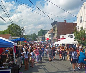 Academy Street during General Montgomery Day 2012, Montgomery, NY