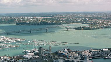 Auckland Harbour Bridge aerial