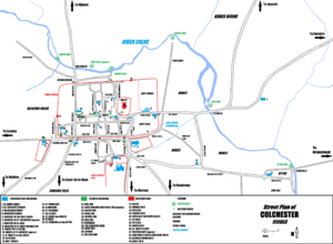Colchester Map 1500AD